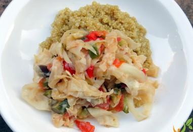 Unser Neujahrsrezept: Quinoa mit Kraut – Gemüse – Pfanne