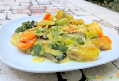 Vegane Gemüse-Süßkartoffel-Pfanne