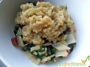 schnelles Rezept Mangold mit Quinoa