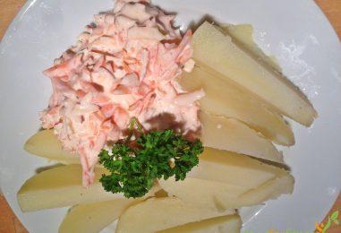 Pellkartoffeln mit Apfel-Karotten-Quark