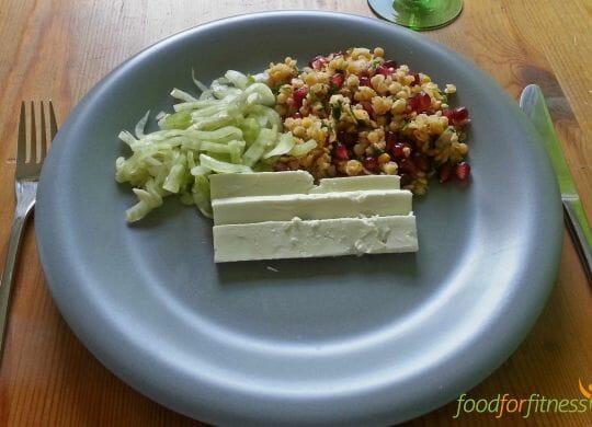 Linsensalat gepaart mit Fenchel und Feta.