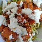 Wirsinggemüse mit Süßkartoffel und Ziegenfrischkäse