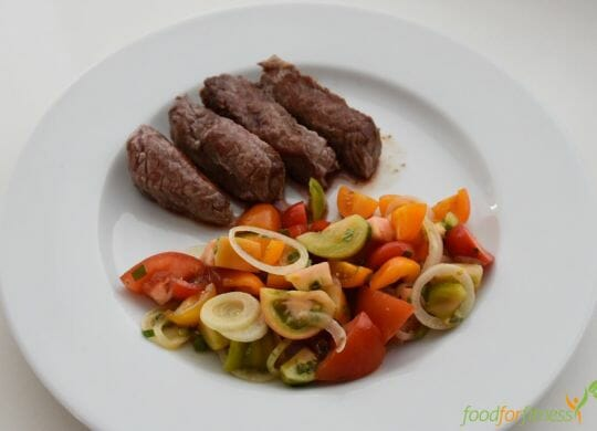 Hüftsteak Tomatensalat